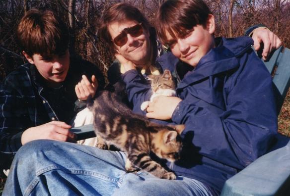 Bo Dad Matt & cat